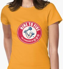 9 to 5 Arm and Hammer logo Women's Fitted T-Shirt