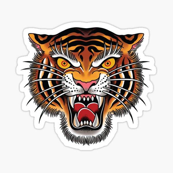 Tiger Head Tattoo Design Sticker