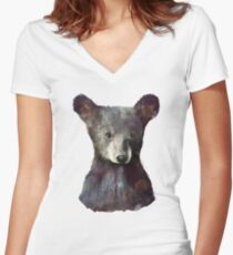Little Bear Women's Fitted V-Neck T-Shirt