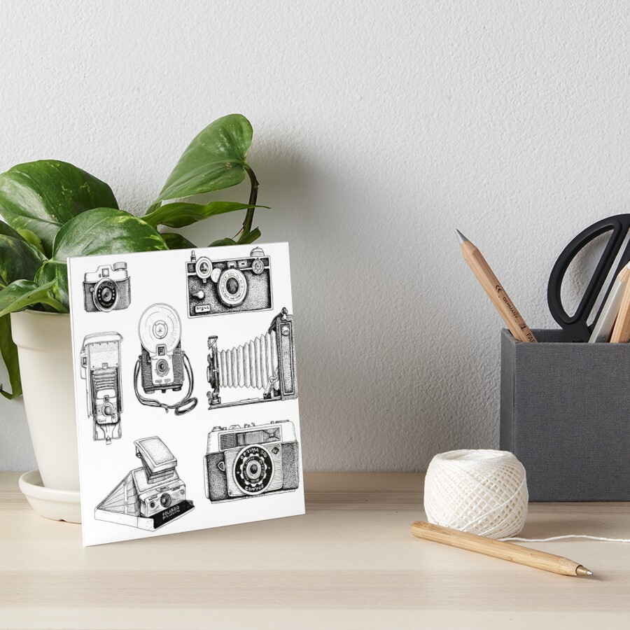 Vintage Camera Collection Art Board Print