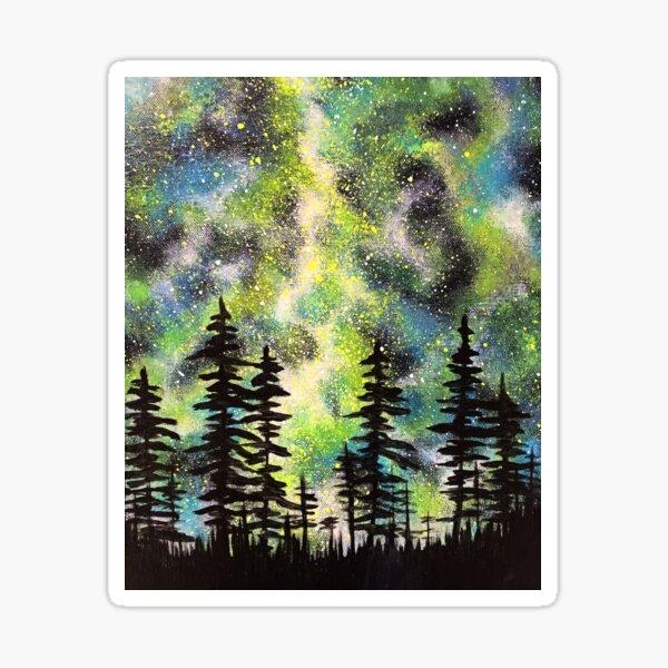 Green Galactic Night Sticker