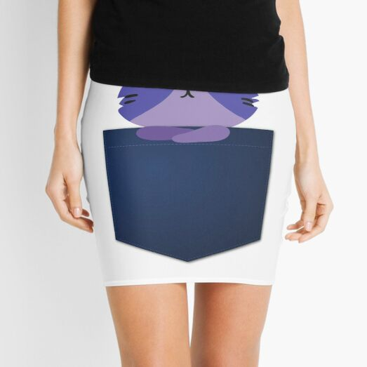 Funny Cat in Pocket Mini Skirt