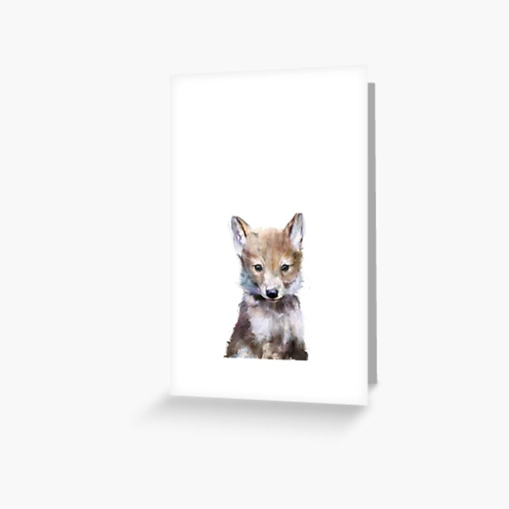 Little Wolf Greeting Card