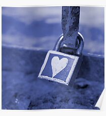 Heart-Shaped Lock, Budapest, Hungary Poster