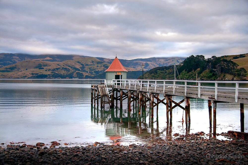 Daly's Wharf, Akaroa by Christine Smith
