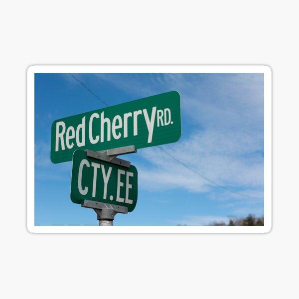 Red Cherry Road Sticker