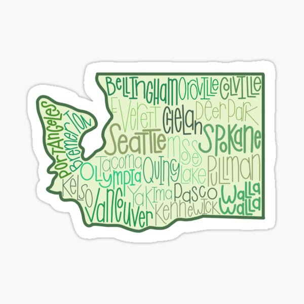 Washington Cities Sticker