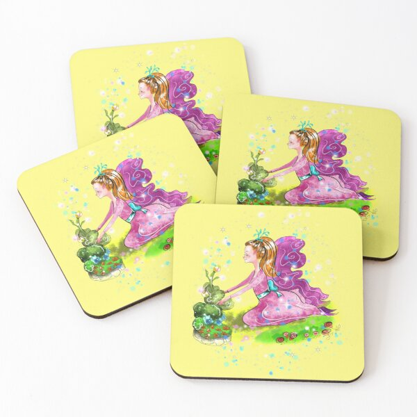 Qiana the Outdoor Gardening Fairy™ Coasters (Set of 4)