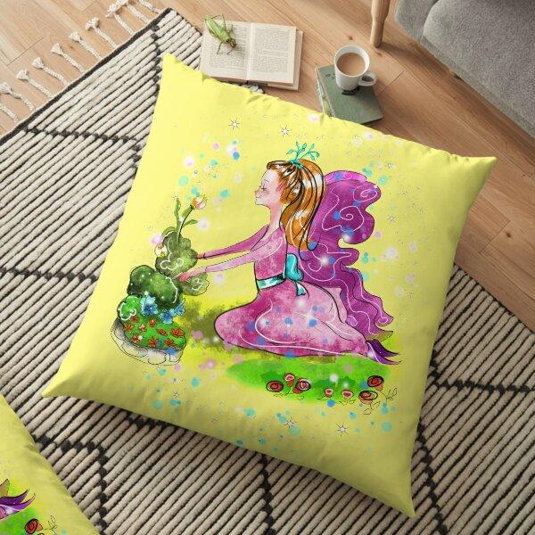 Qiana the Outdoor Gardening Fairy™ Floor Pillow
