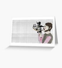MAN WITH SEXTANT Greeting Card