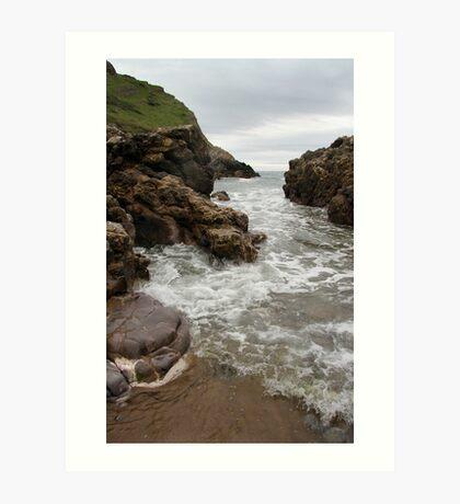 Turning Tide - Mewslade Bay Art Print