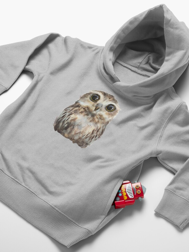 Alternate view of Little Owl Toddler Pullover Hoodie