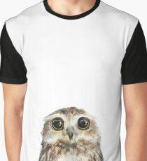 Kleine Eule Grafik T-Shirt
