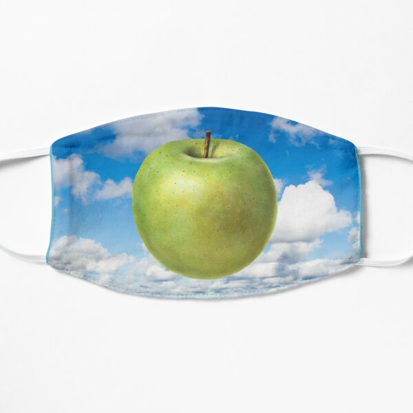 Floating Apple in Blue Sky - Inspired by Magritte Son of Man Mask