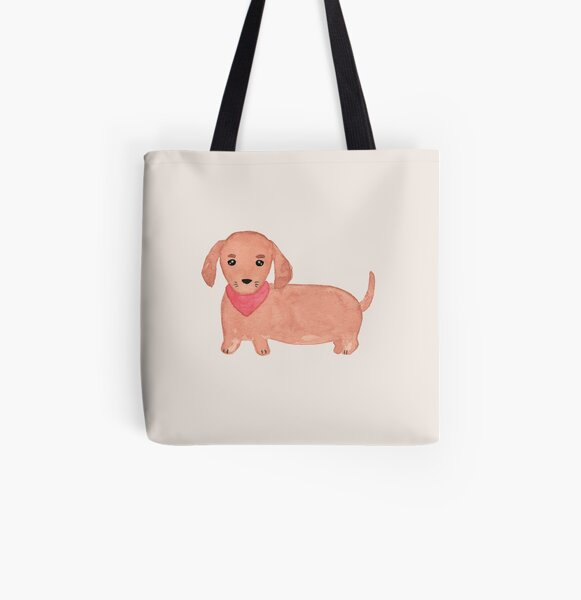 Dachshund - Sausage Dog  All Over Print Tote Bag