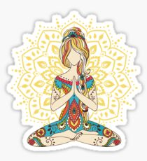 Yoga Om Chakras Mindfulness Meditation Zen 4 Sticker