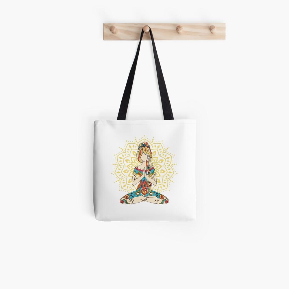 Yoga Om Chakras Mindfulness Meditation Zen 4 Tote Bag