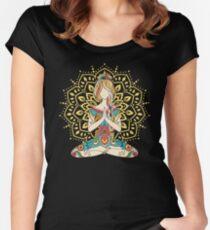 Yoga Om Chakras Mindfulness Meditation Zen 4 Women's Fitted Scoop T-Shirt