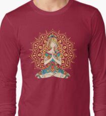 Yoga Om Chakras Mindfulness Meditation Zen 4 Long Sleeve T-Shirt