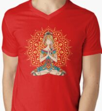 Yoga Om Chakras Mindfulness Meditation Zen 4 Men's V-Neck T-Shirt
