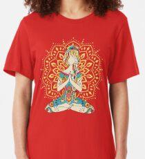 Yoga Om Chakras Mindfulness Meditation Zen 4 Slim Fit T-Shirt