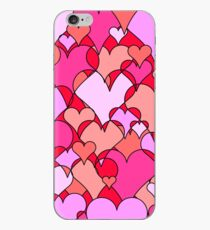 Pink collage hearts iPhone Case