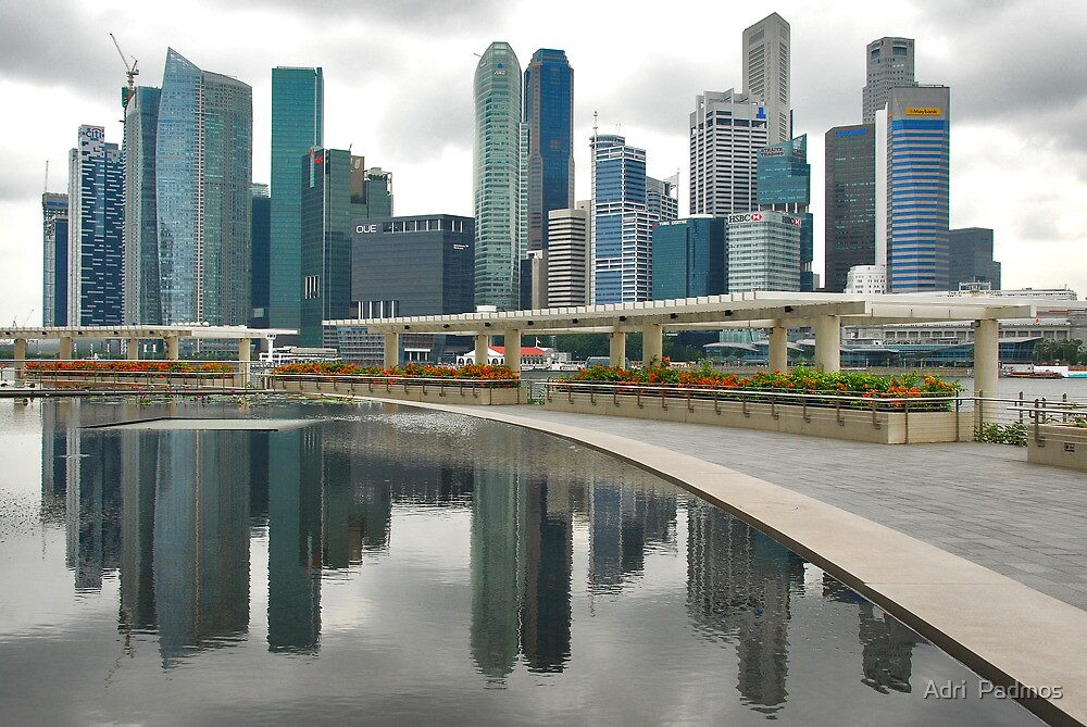 Singapore reflexions by Adri  Padmos