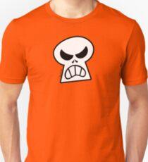 Angry Halloween Skull Slim Fit T-Shirt
