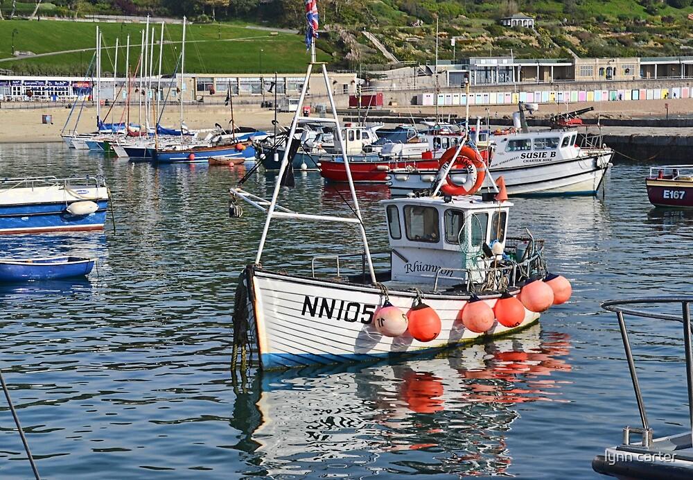 Rhiannon In Lyme Harbour by lynn carter