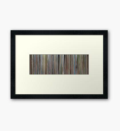 Moviebarcode: Ferris Bueller's Day Off (1986) Framed Print