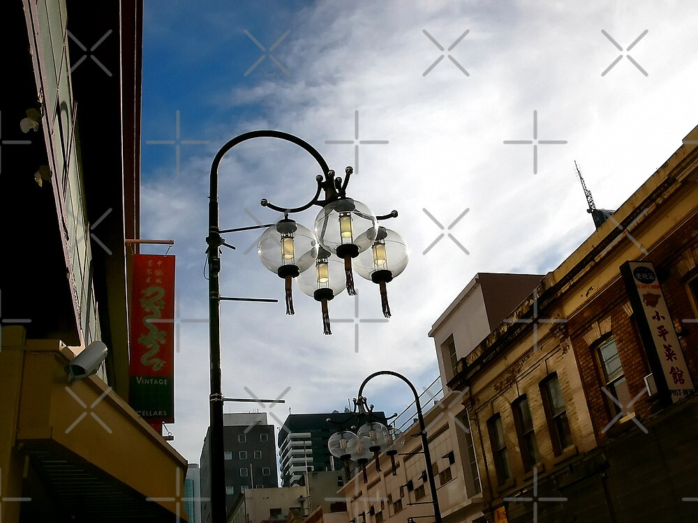 Street Lanterns in Chinatown by Sandra Chung