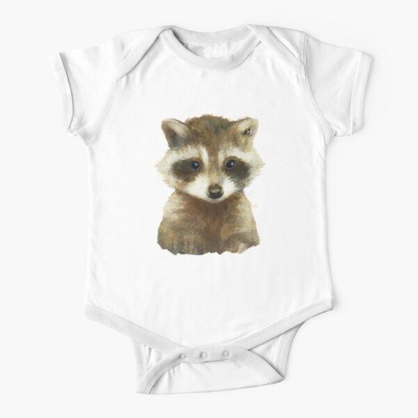 Little Raccoon Short Sleeve Baby One-Piece