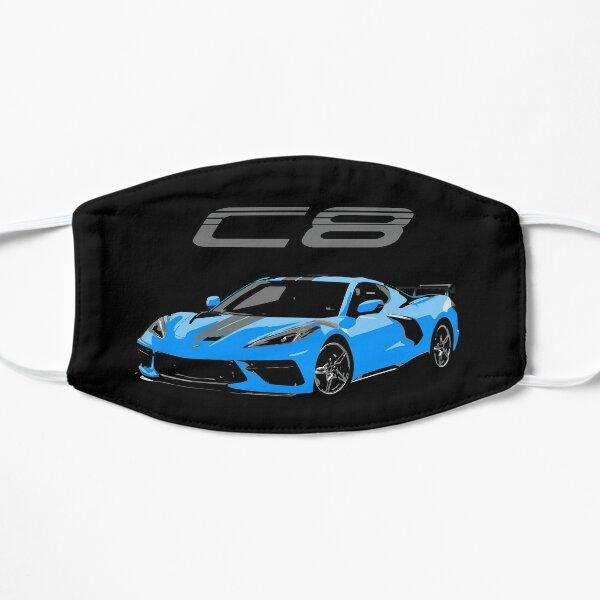 Blue Chevy Corvette C8 Mid Engine Flat Mask