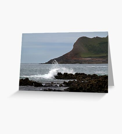 View From Mewslade Bay Greeting Card