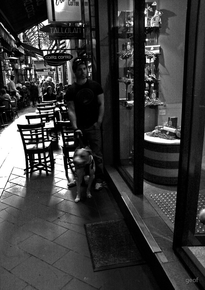 just walking the dog. by geof