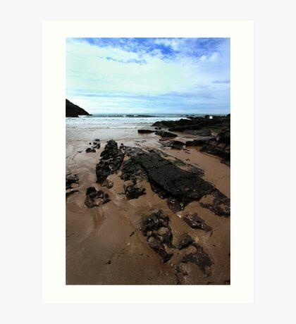Rocks In Mewslade Bay - Wales Art Print