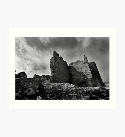 Weobley Castle Ruins - Gower - Wales Art Print