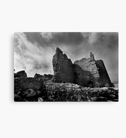 Weobley Castle Ruins - Gower - Wales Canvas Print