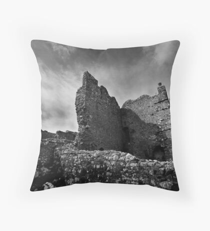 Weobley Castle Ruins - Gower - Wales Throw Pillow