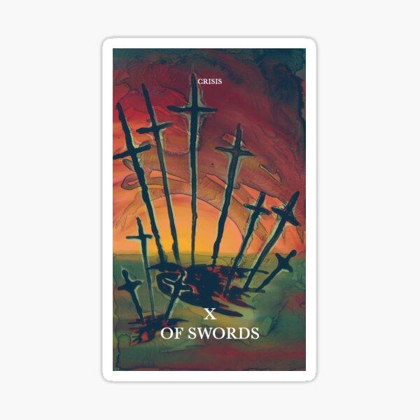 Ten of swords Sticker