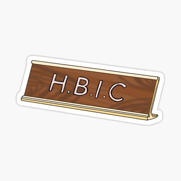 HBIC Name Plate Sticker