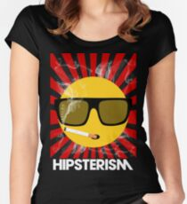 HIPSTERISM (SERIES) [red/white] Women's Fitted Scoop T-Shirt