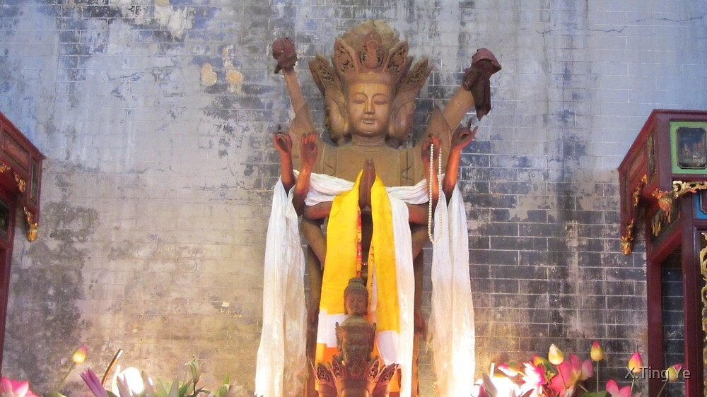 观音-Avalokitesvara by X.Ting Ye