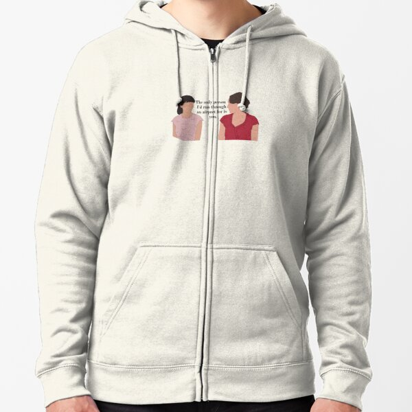 Fleabag and Claire Airport Zipped Hoodie