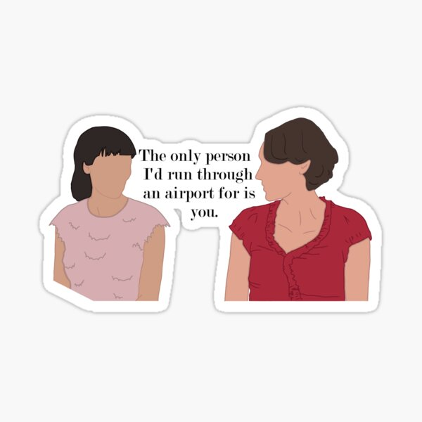 Fleabag and Claire Airport Sticker
