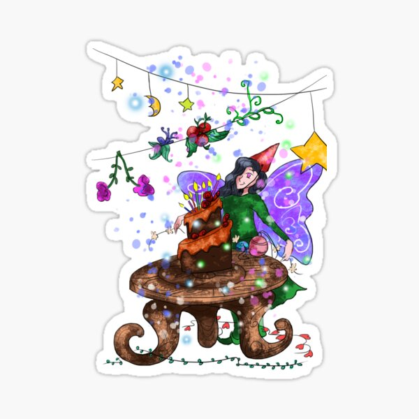 Parigold the Party Fairy™ Sticker