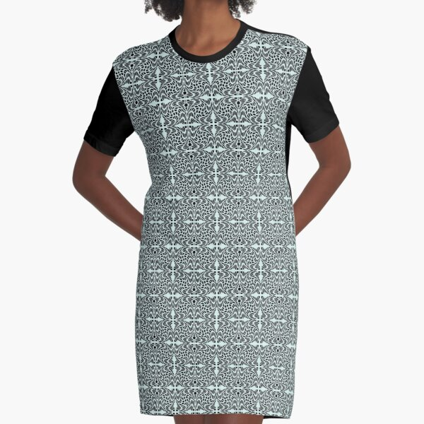 Symmetrical Geometric Pattern 6 Graphic T-Shirt Dress