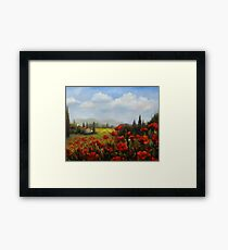 Beyond the Poppies by Chris Brandley Framed Print