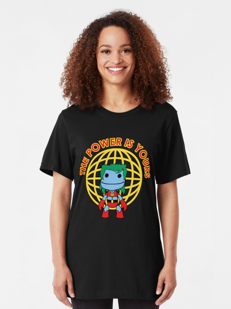 Alternate view of Captain Little Big Planet - Multiple Shirt Colors Slim Fit T-Shirt