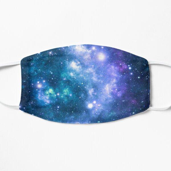 Turquoise Teal Purple Galaxy Nebula Flat Mask